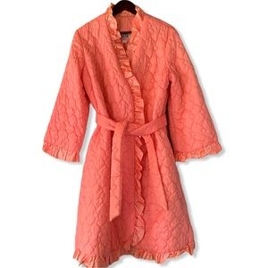 Vintage Lori Till Quilted Pink Robe Dressing Gown